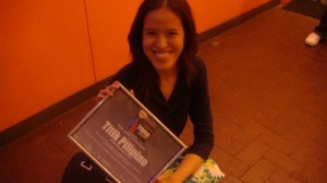Me holding the Titik Pilipino plaque :P