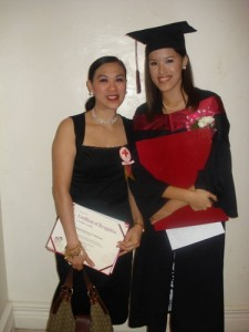 With my Mom during my College graduation last November 2007