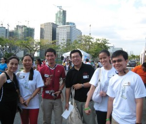 Jane, Joy, Jonel, Fitz, Mica and Winston at Walk a Green Mile event