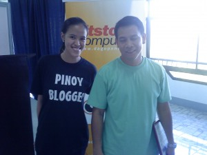 Pangasinan Bloggers Mica Rodriguez and Gary Viray