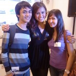 Aaron and Lecel with Ms. Rustia