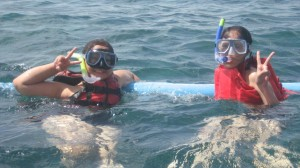 Snorkling in the name of friendship