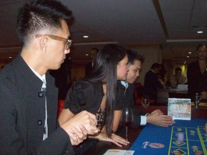 AJ, Pia and James playing Roulette