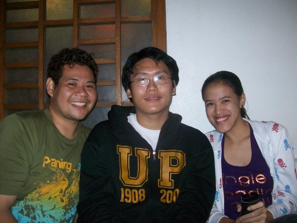 Eric, Bong and Mica at Golden Cowrie
