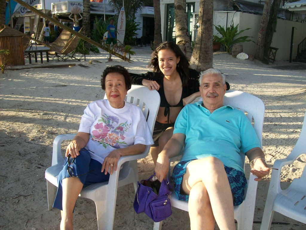 Me and my grandparents at Boracay - Because life is a pleasure with you by my side! :D