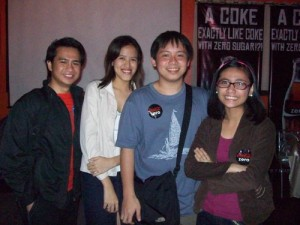 Jeff, Mica, Jehz and Cai at Buhay Coke Party (June '08). The time I noticed Jehz and Cai for my film :D