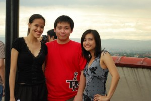 Me, Jehz and Cai at the shoot of Kuya Bunso (January 2009)