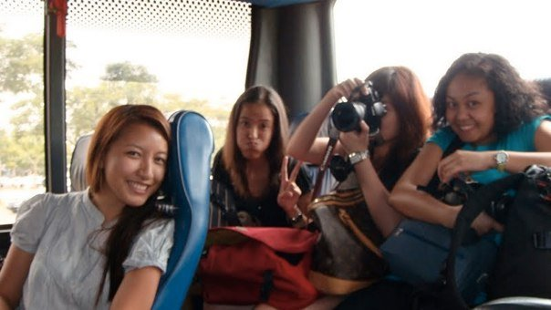 Shuttle Bus from Airport to Link Hotel (Hannah, Mica, Maki and Ada)
