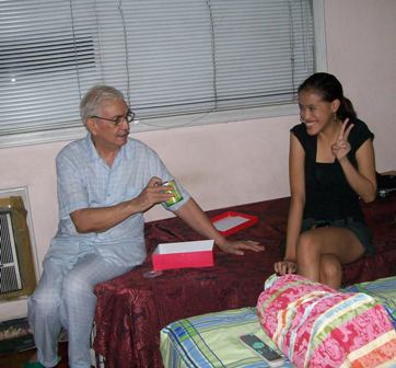 Lolo: Are you the one and only culprit of the Pringles in the redbox crime?! Mica: I'm guilty. Peace Grandpa :D