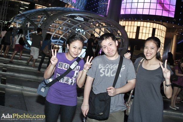 Ada, Jehz and Mica somewhere at Orchard Road