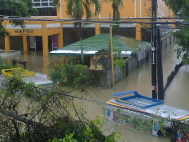 R.A. Gapuz building flooded in Brgy Bolosan, Dagupan. Photo taken by Pia de Vera
