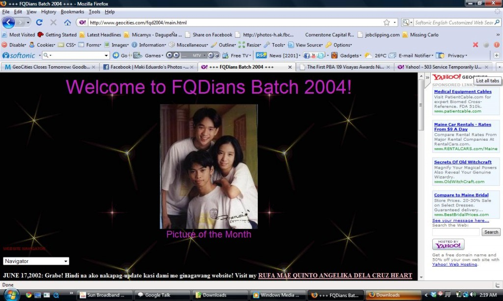 FQD Batch 2004 Website - Marquee - Image -Marquee -Link Layout