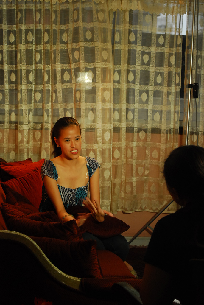 During my interview for Qtube Taken by Ada Lajara