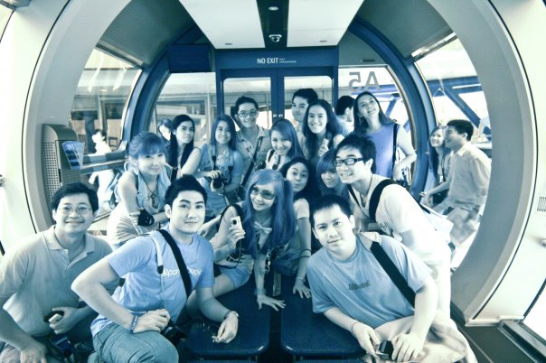 Nuffies as Cyborgs at Singapore Flyer