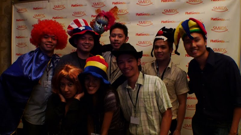 Vince, Jehz, Chef Tonio, JayL, Jeff, Hannah, Mica and Jonel at Digital Filipino Web Awards