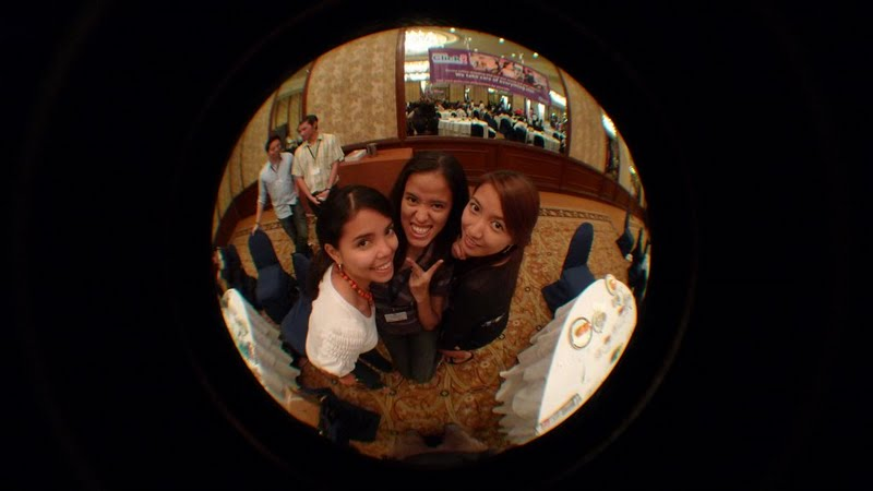 Patty, Mica and Hannah Fisheye shot