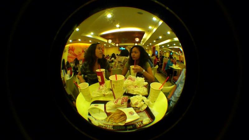Mica and Ada's Patay Gutom moment at Burger King
