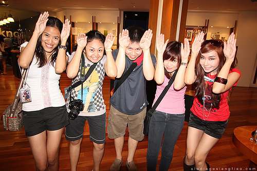 Alodia and the Nyoks doing the Caramel Dansen Photo By Ashley