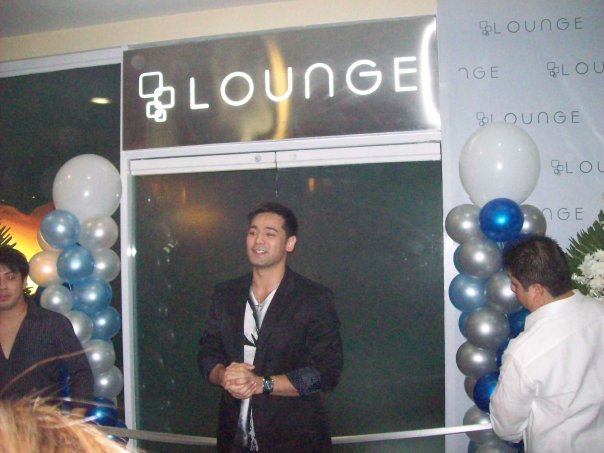Hayden Kho at the soft launch of The Lounge