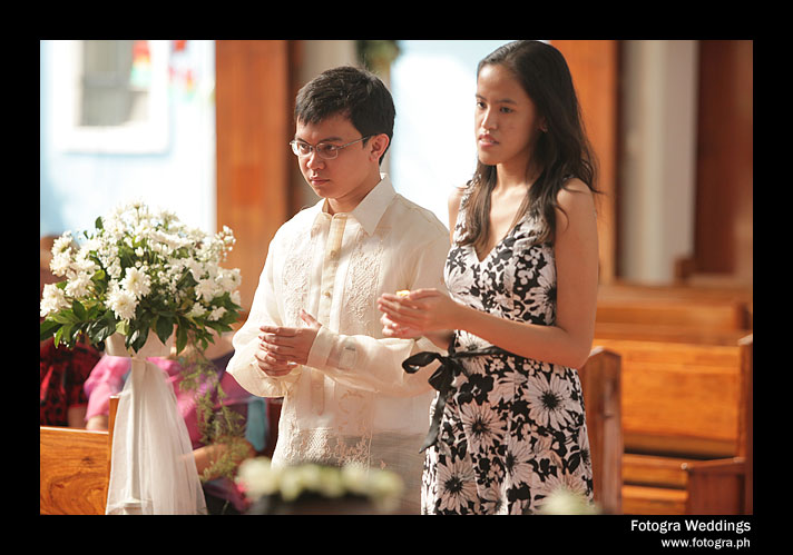 Winston and Me for the Candle Offertory (I thought we'd end up as the ring bearer and the flower girl lolz)