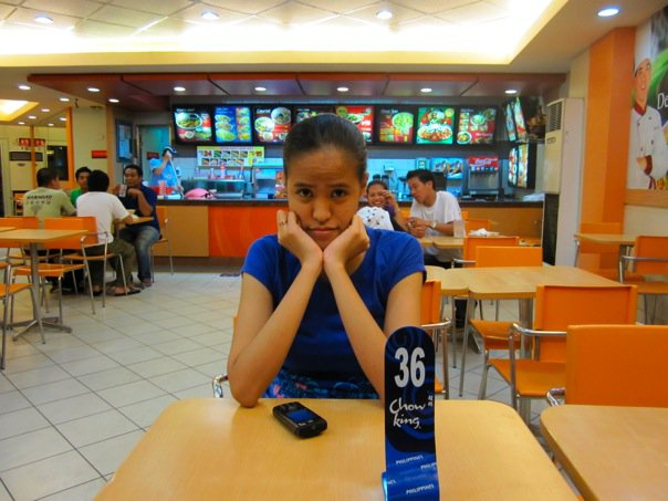 Patiently Waiting for our food at Chowking