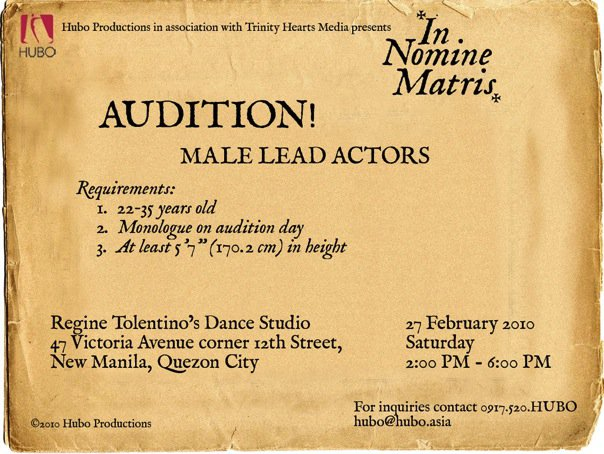 Hubo Productions Audition