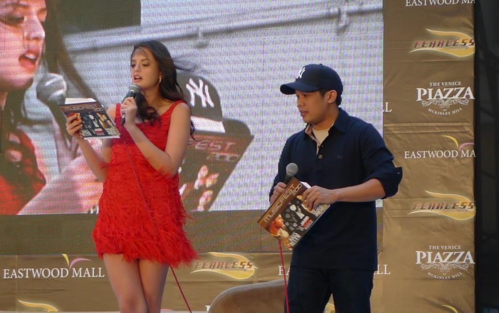 Musicfest 2010 Manila Presscon Hosts Georgina Wilson and Mo Twister