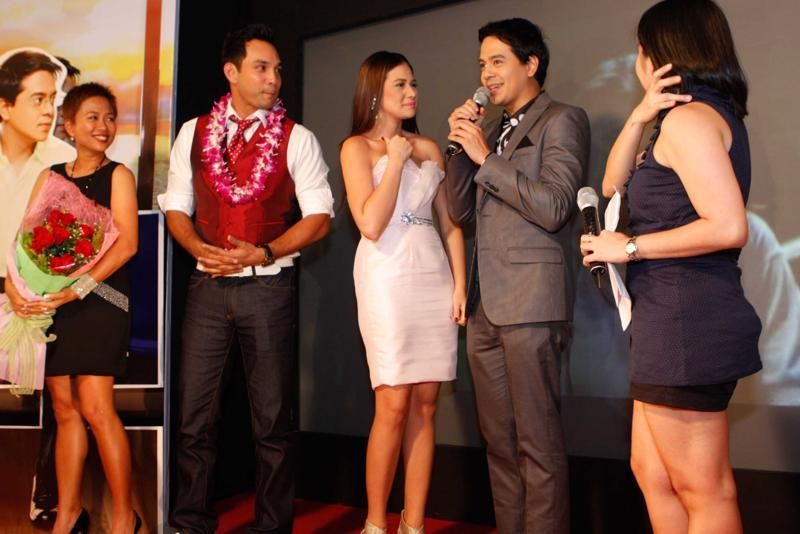 John Lloyd Cruz and Bea Alonzo with the Cast and Crew of Miss You Like Crazy