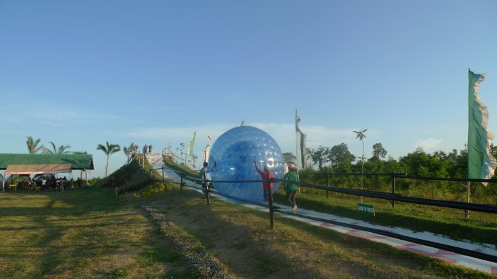 Rolling at Davao Zorb Park