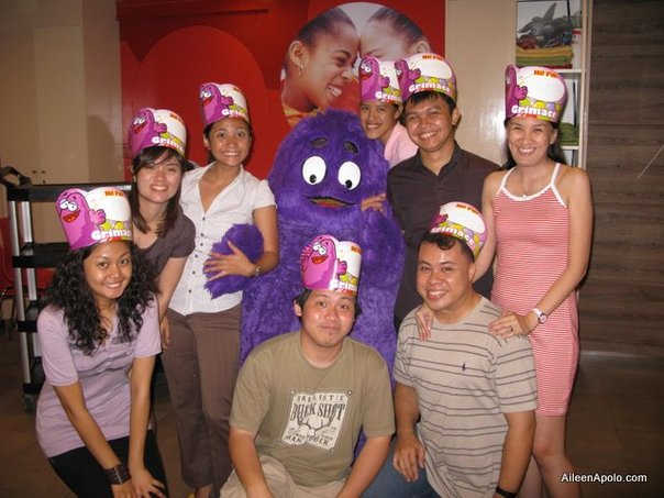 Group Photo with Grimace!