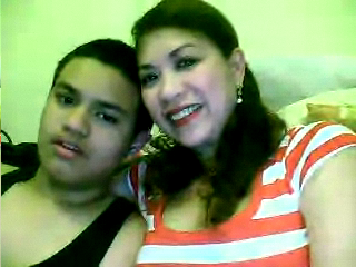 From England with Love : Carlo and Mama during our Skype session earlier