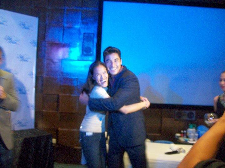 Mica and Aki's Power Hug!