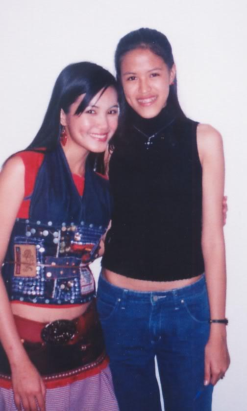Jade and Mica in Dagupan (Febuary 2004) - Kamusta naman ang mga tiyan? :P
