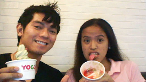 Green Tea Yogurt addiction at CoffeCat (i blame doyzkie LOL)