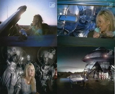 Geri Halliwell and the aliens in 'Lift Me Up' Music Video
