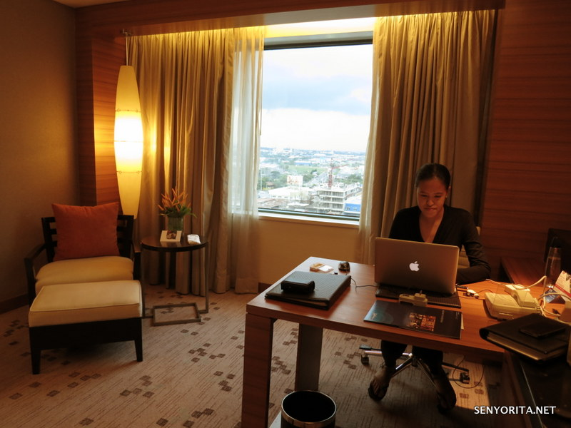 Working on some tasks at Radisson Blu Hotel in Cebu