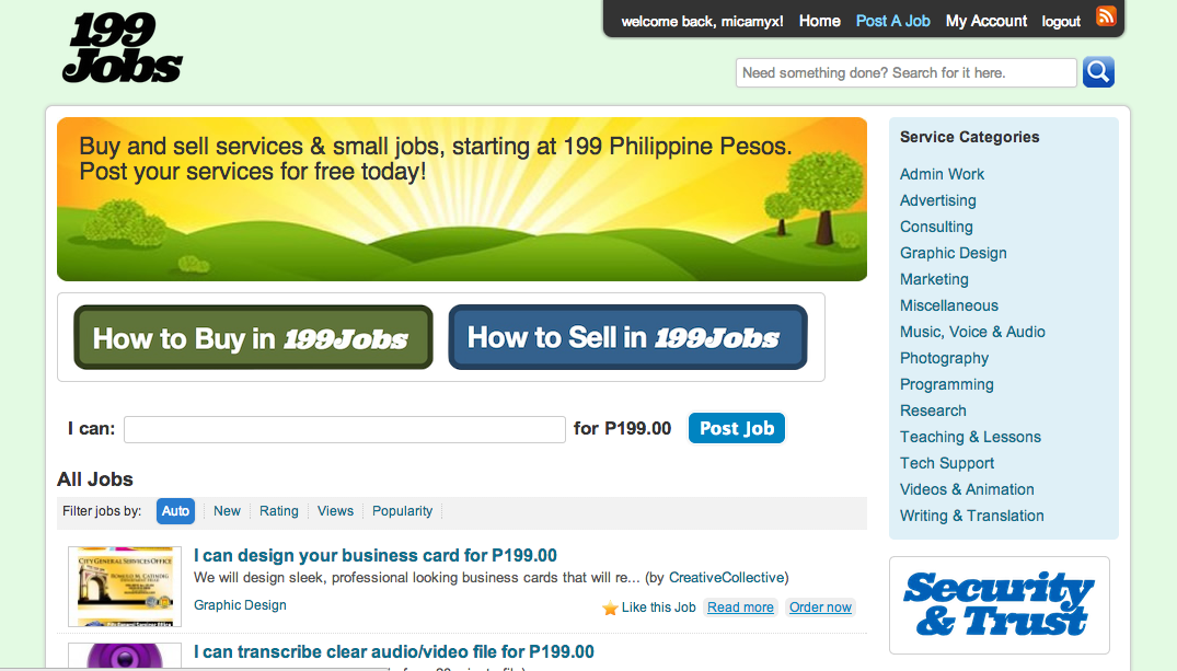 199Jobs.com - New Marketplace for Filipino Freelancers