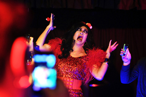 Gurl, I ain't crazy! I Just love Manila Luzon and Elmo the Puppet | Photo by Mark Liddell