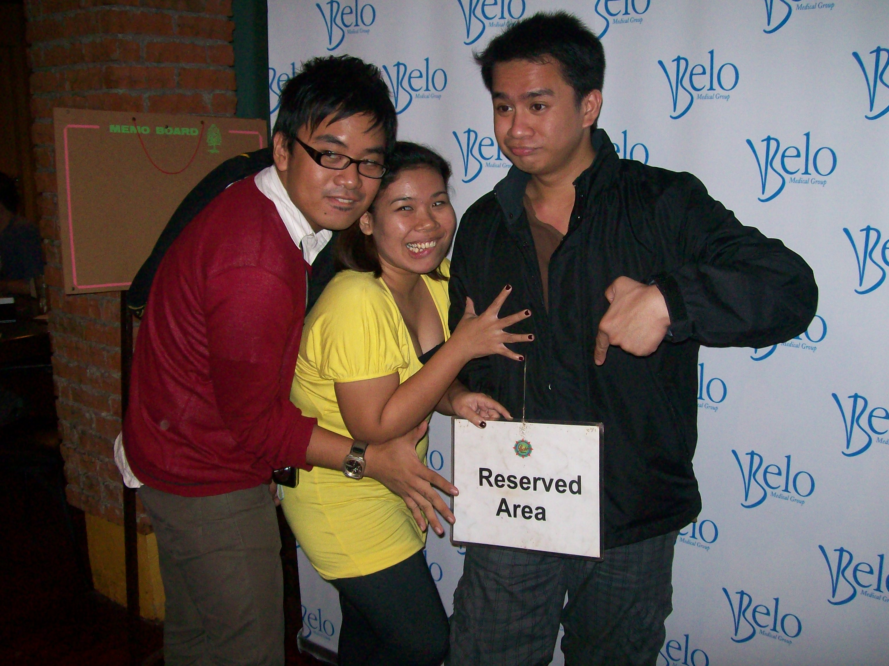 Coy, Faith and Jeff at the First Belo Bloggers Event (2008)