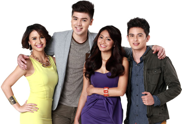 The cast of Diary ng Panget: Yassi Pressman, Andre Paras, Nadine Lustre and James Reid
