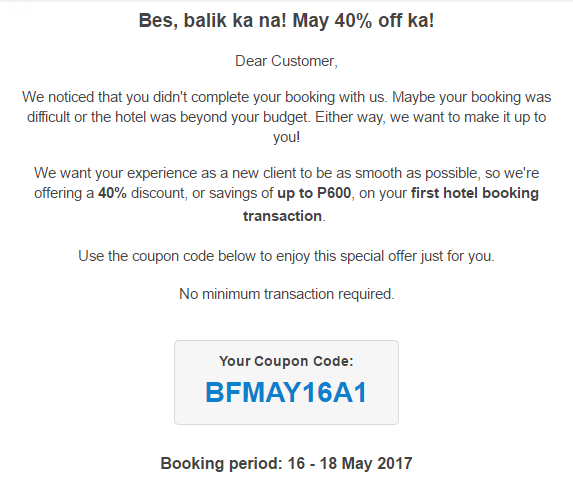Traveloka is kind enough to give you discount codes from time to time!
