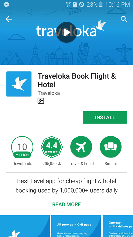 Traveloka App in Google Play